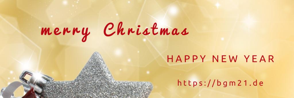 Weihnachts- und Neujahrsgrüße von bgm21