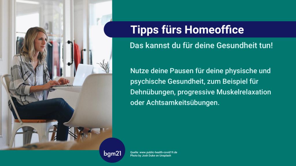 Tipps fürs Homeoffice, bgm21